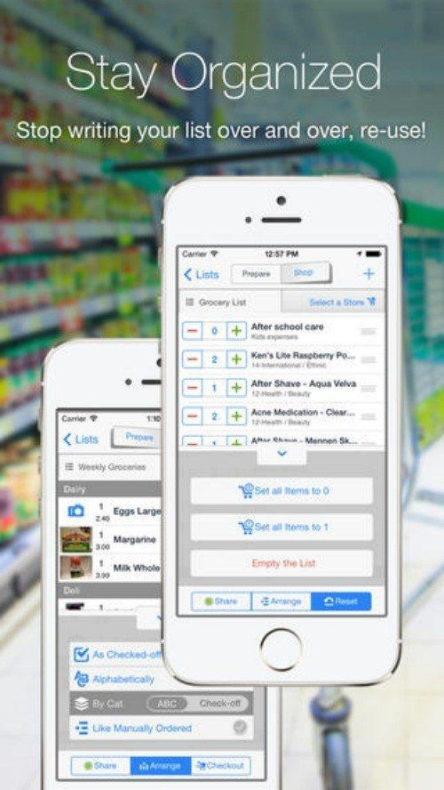 Grocery Gadget-Hold back tears, this app is about to save your life. It has your grocery list, it allows you to share said grocery list with other people on other devices, it takes photos, it memorizes aisles, AND it compares prices. Done. Over. :: faints