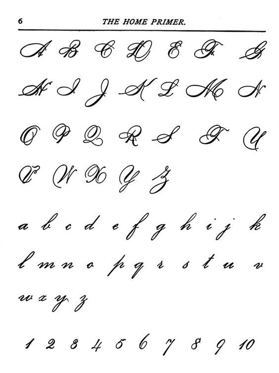 Alphabet Letters To Print Fancy Fonts Handwriting Cursive Stencils Writing Beautiful