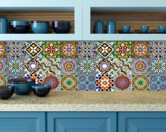 Tile Decoration Stickers Magnificent Splashback 24 Units Tile Stickers Kitchen Decals Wallalegriam Inspiration