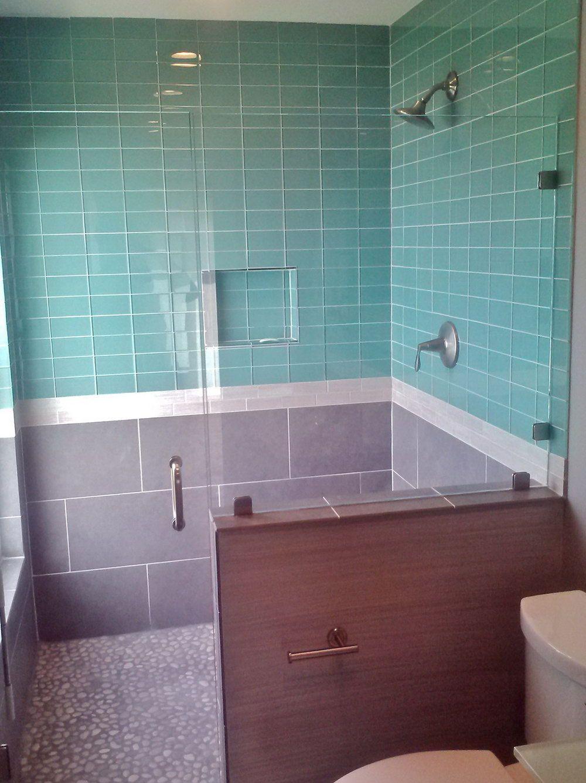 Light Blue Tile Backsplash | casa snagov | Pinterest | Blue tiles ...