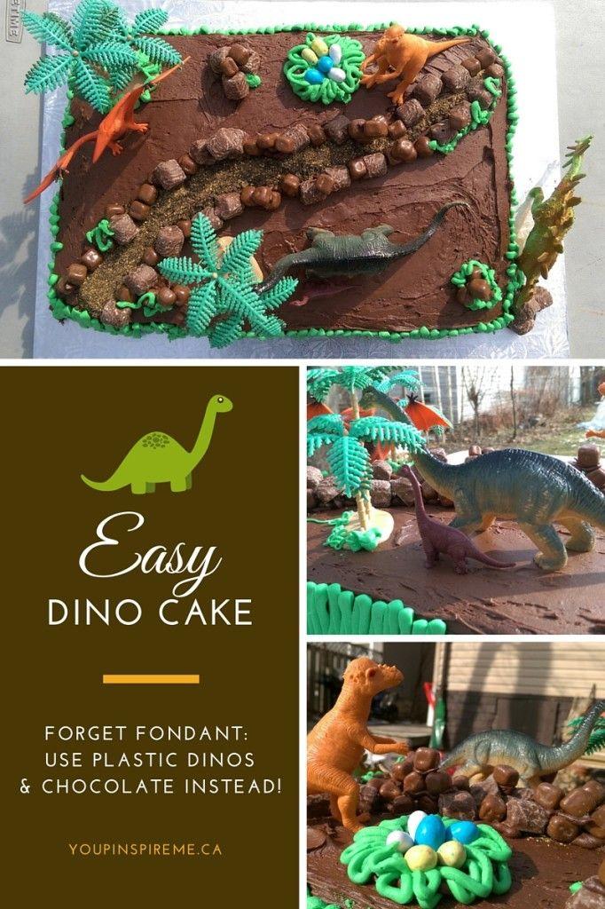 Easy Dinosaur Cake for a Kids Birthday Party Dinosaur Cake