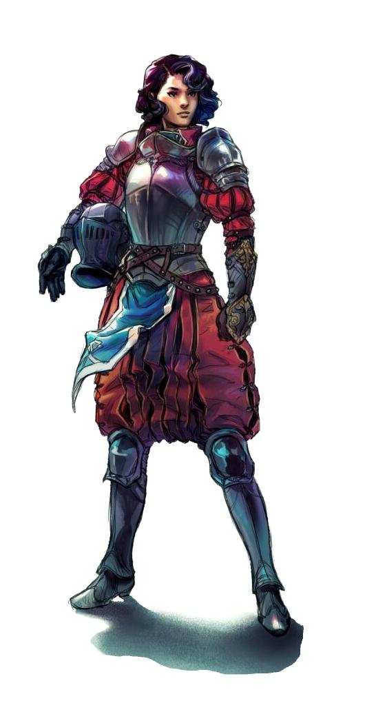 Female Human Fighter Cavalier Knight - Pathfinder PFRPG DND D&D d20