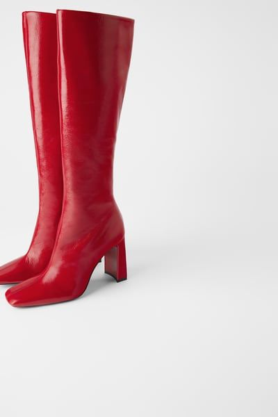 size 40 a few days away super cute Patent leather heeled boots | Heeled boots, Leather heeled boots ...