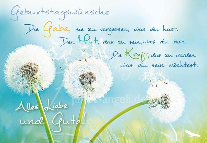 3 Pusteblumen In Der Wiese Schone Spruche Geburtstag Schone