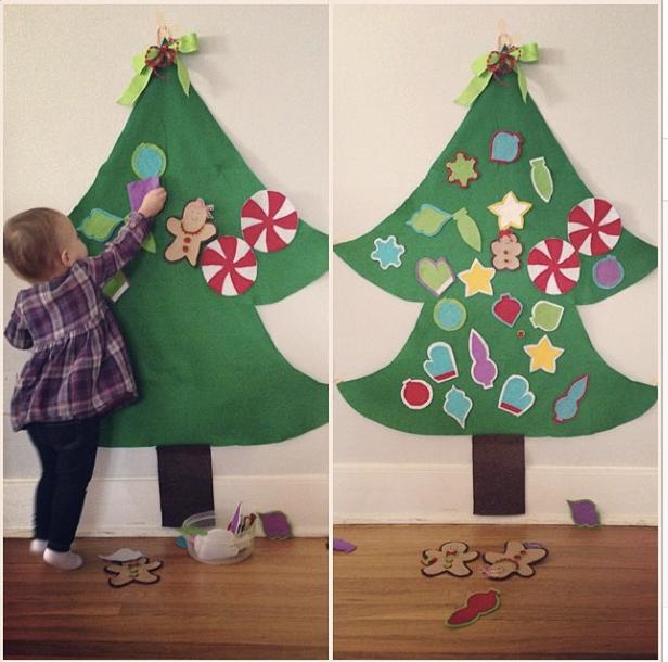 We Heart Parties: Blog DIY Felt Christmas Tree Tutorial
