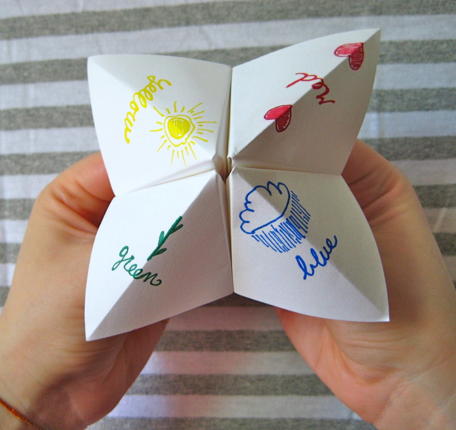 how to make a fortune teller with pictures