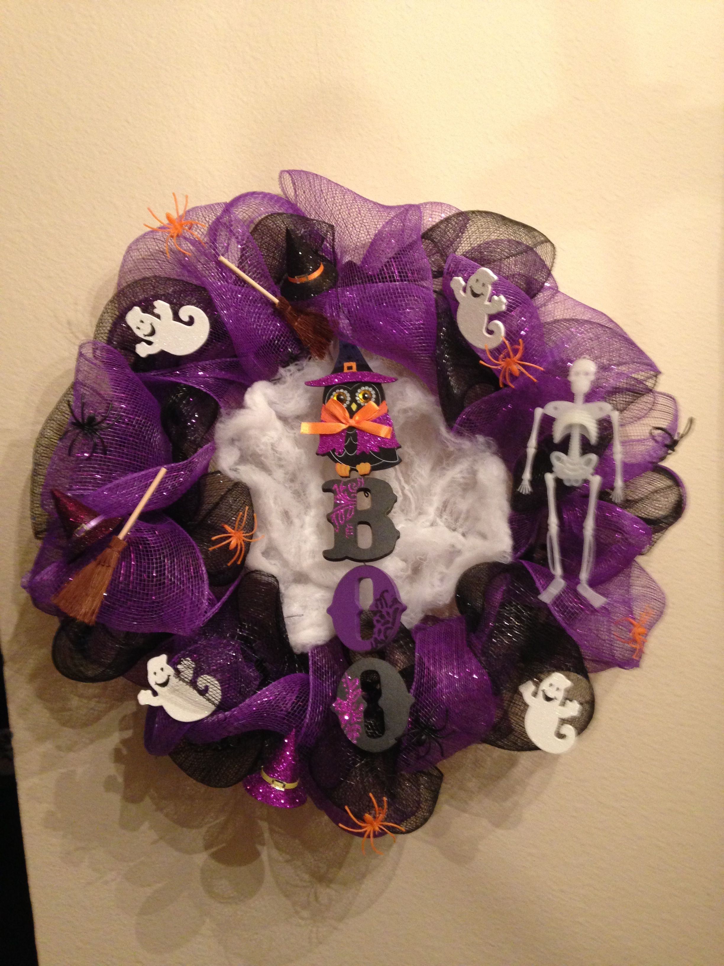 Deco mesh wreath I created!