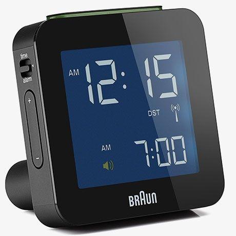 Fab Com Digital Travel Alarm Clock White Braun Digital Clock Travel Alarm Clock Alarm Clock