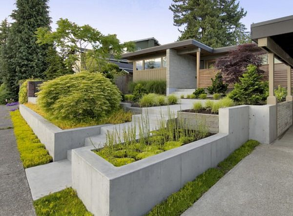 Great Mid Century Front Garden Patio Exterior Design How To Create
