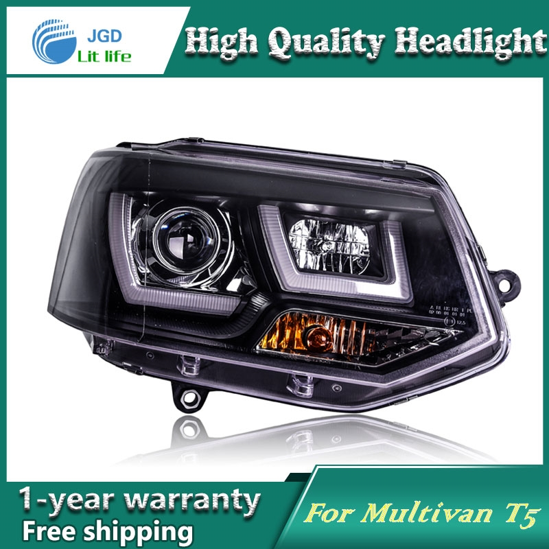 603.25$  Watch now - http://alicdx.worldwells.pw/go.php?t=32725202525 - Car Styling Head Lamp case for VW Multivan T5 Headlights LED Headlight DRL Lens Double Beam Bi-Xenon HID car Accessories 603.25$
