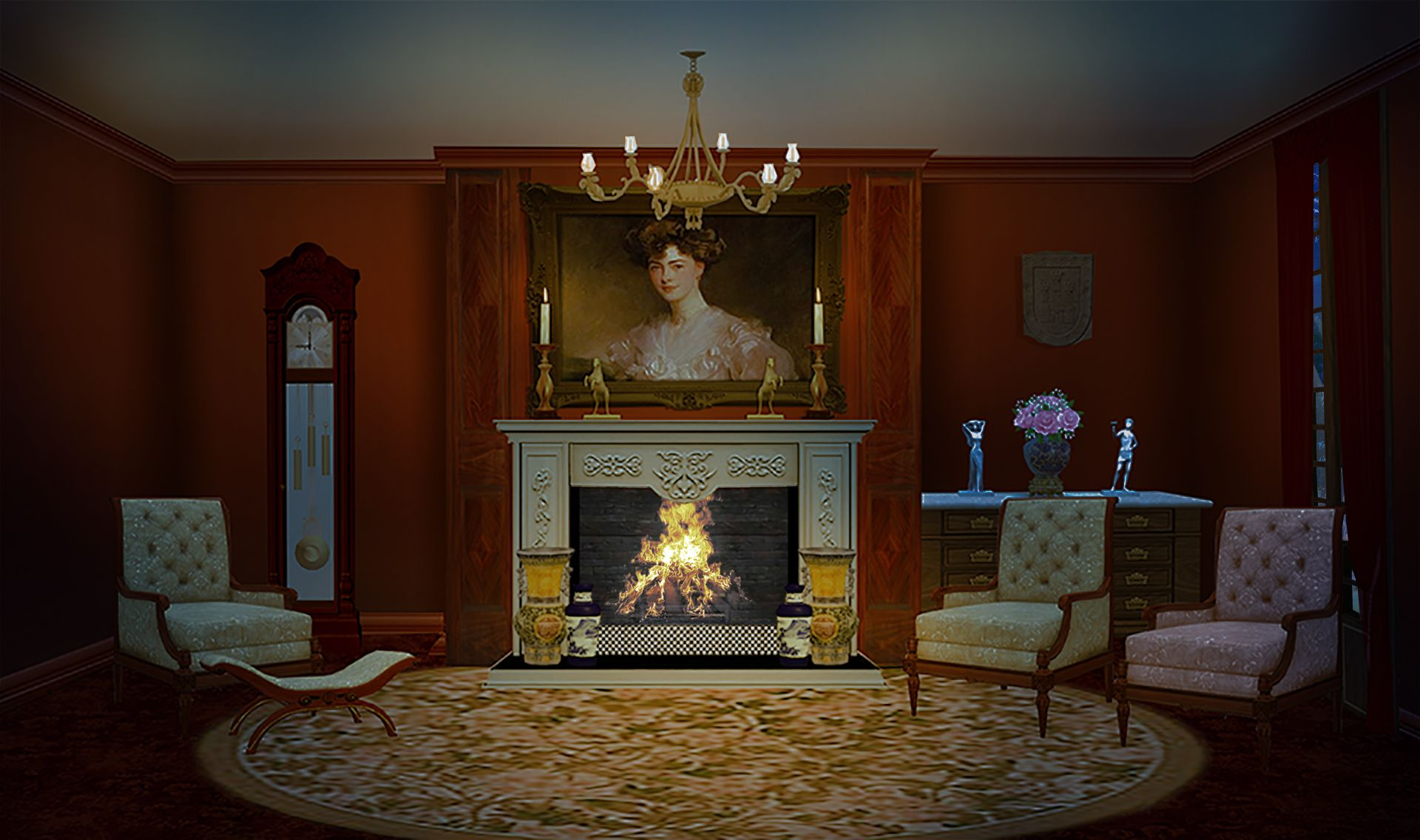 INT. VICTORIAN LIVING ROOM RUINS - NIGHT | Episode Life ...