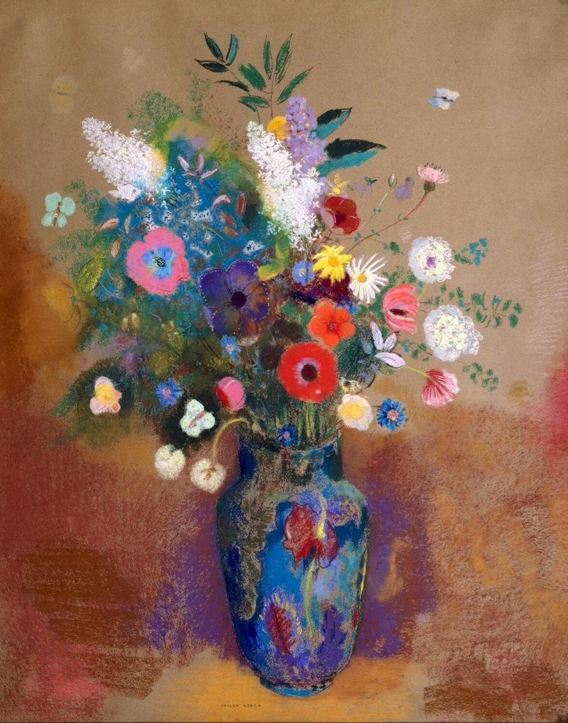Dani On Twitter Floral Art Odilon Redon Flower Art