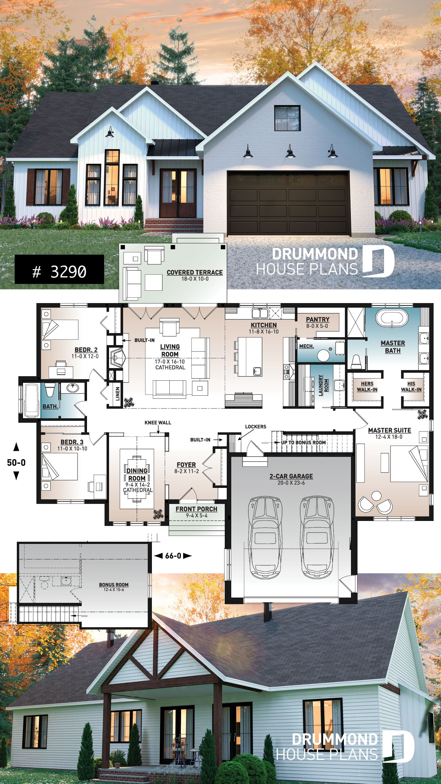 Discover The Plan 3290 Country Side Which Will Please You For Its 3 4 Bedrooms And For Its Farmhouse Styles Farmhouse Style House Plans House Plans Farmhouse Farmhouse Style House
