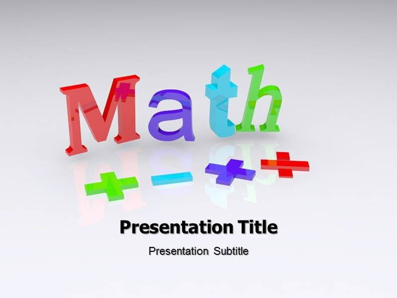 Free Math Powerpoint Templates For Teachers | Adjunct Faculty ...