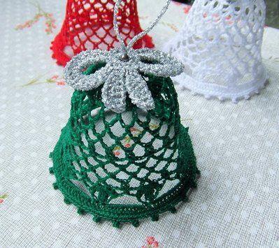 Campanelle ad uncinetto addobbi natalizi casa granny for Addobbi natalizi all uncinetto