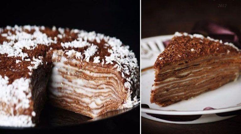 тортик на сковородке пошаговый рецепт