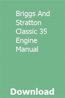Briggs & stratton 35 classic manual pdf