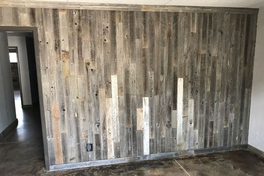 Barnwood Wall Planks Diy Barn Wood Reclaimed Wall Paneling Simple Peel And Stick 20 Sq Ft Barnwood Wall Barn Wood Wall Planks