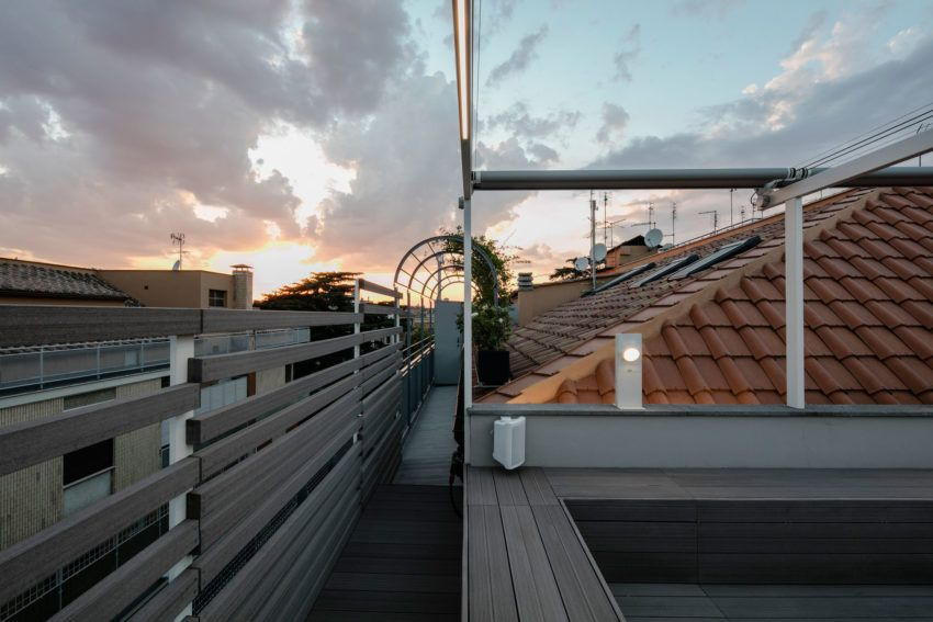 Sycamore Architects Create a Two-Level Penthouse With a View in Rome, Italy