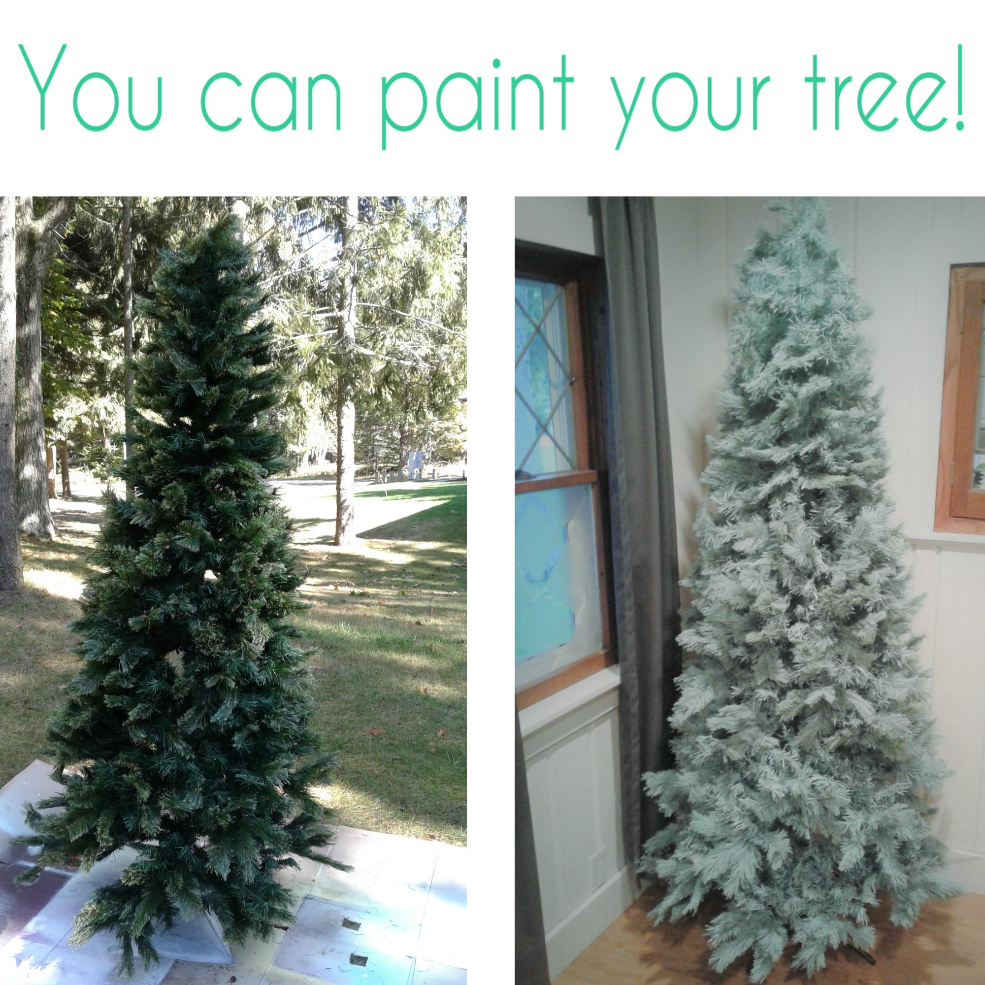 Spray Paint Artificial Christmas Tree