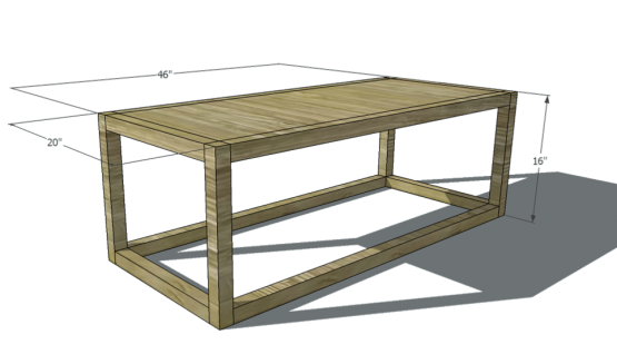 Parson S Coffee Table Building Plans Coffee Table Plans Coffee Table 2x2 Wood