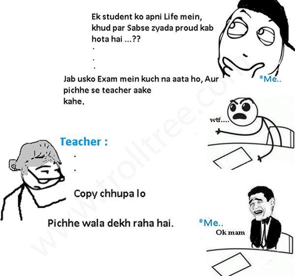 Pin by trolltree on Hindi Trolls | Teacher jokes, Funny ...