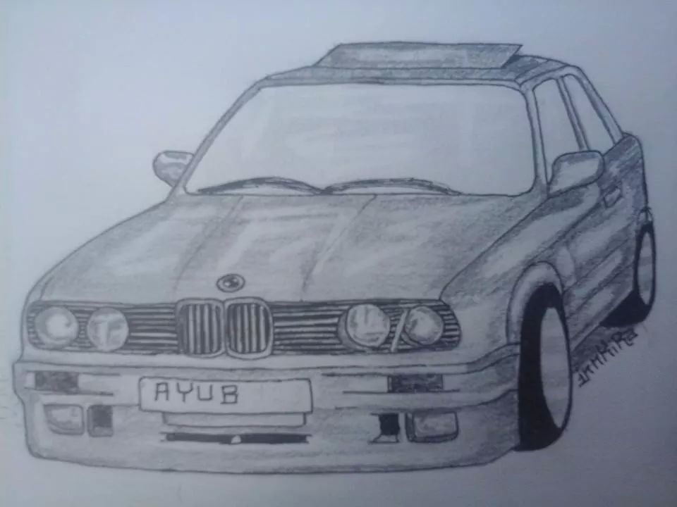 BMW By Me With Pencil