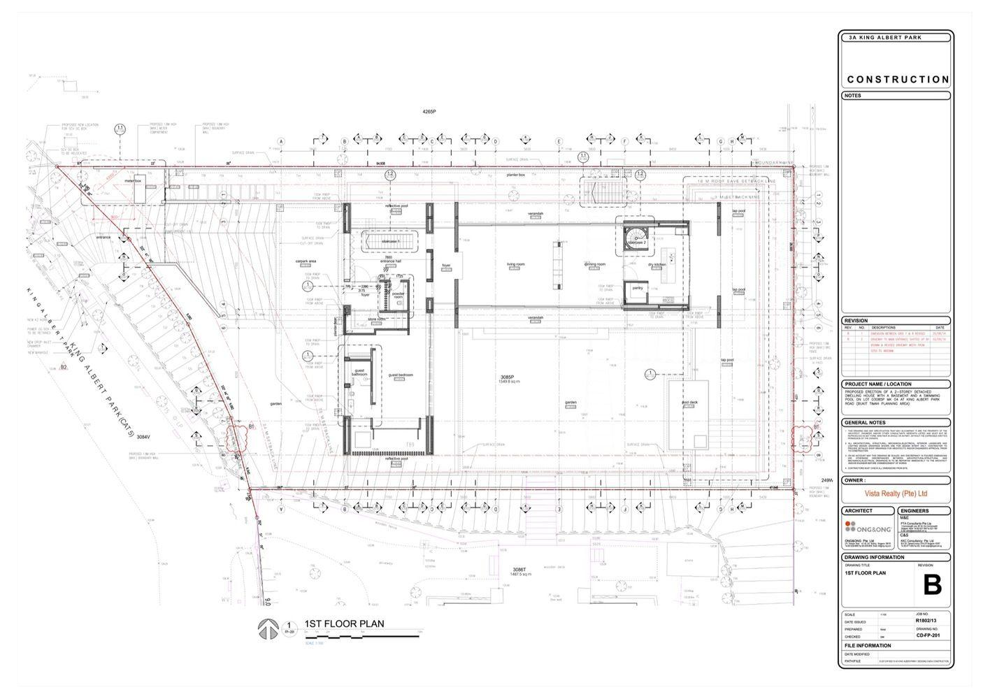 Kap House Ong Ong Pte Ltd Floor Plans Modern House Design Basement Plans