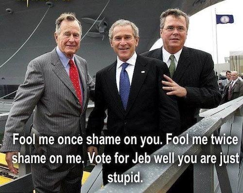 9bac95479cc0bb2dd89b1ee9cfa8bfec dumb,dumber and dumbest george h w bush george w bush jeb