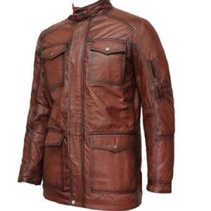 últimos diseños diversificados gran descuento para buscar oficial chaqueta-cuero-marron-larga   Chaquetas de cuero Hombre ...