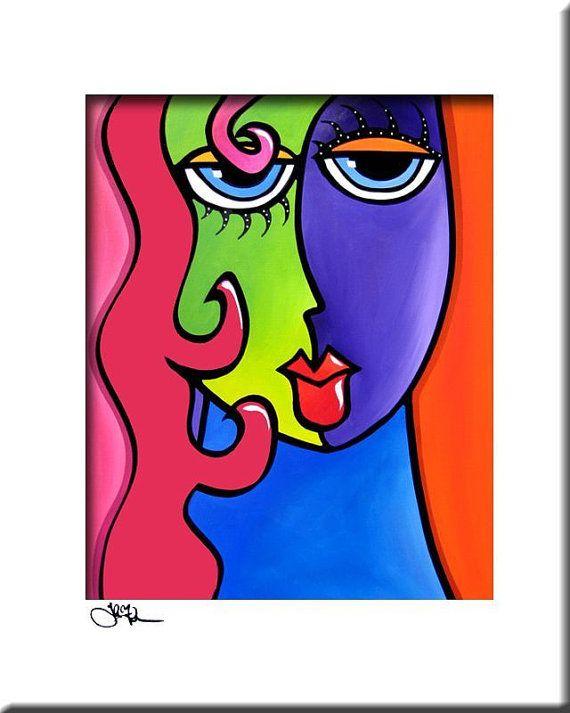 MY BETTER HALF CONTEMPORARY POP ART Abstract MODERN print FIDOSTUDIO