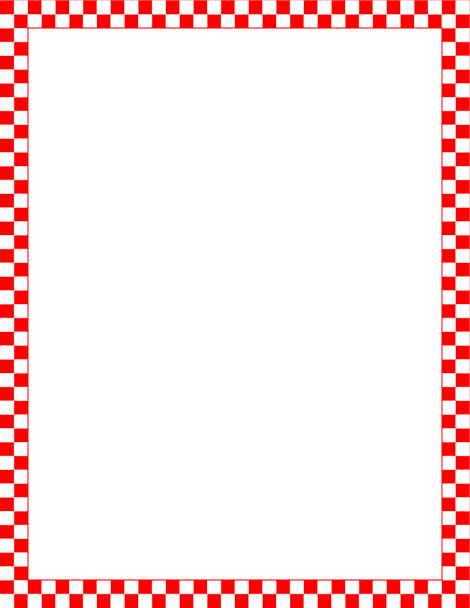 Printable red and white checkered border. Free GIF, JPG, PDF, and ...