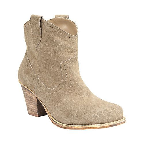 Tesstify Taupe Suede Western Ankle Boots Steve Madden