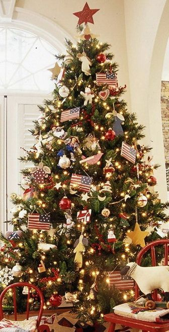 Christmas Tree Decorating Ideas For 2016 Patriotic Christmas Tree Amazing Christmas Trees Unique Christmas Trees