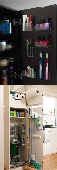 astuces utiliser et optimiser ses portes de placard pour ranger efficacement salle de bain. Black Bedroom Furniture Sets. Home Design Ideas