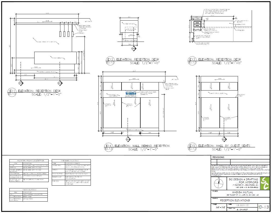 Bathroom stall elevation - Construction