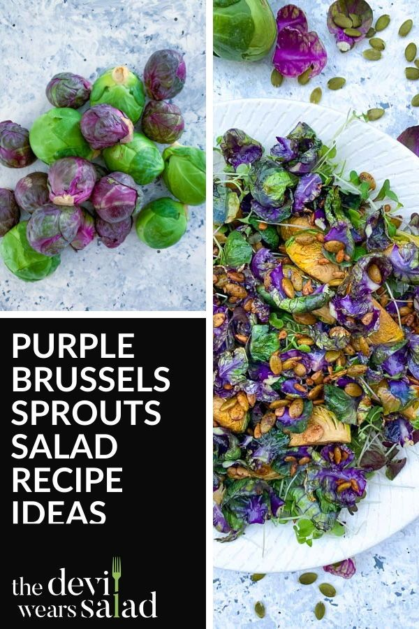 Roasted Purple Brussels Sprouts Salad with Spiced Seeds | The Devil Wears Salad