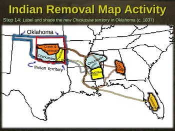 Indian Removal Act Trail Of Tears MAP Activity Engaging - Map of the us activities