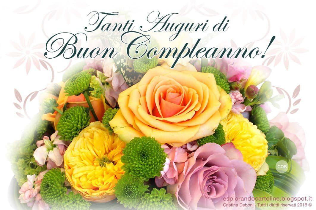 Estremamente Tanti Auguri di Buon Compleanno con rose   ツ Immagini di Buon  KQ74
