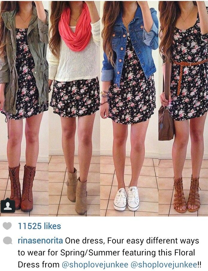On instagram, how to wear a dress four different ways