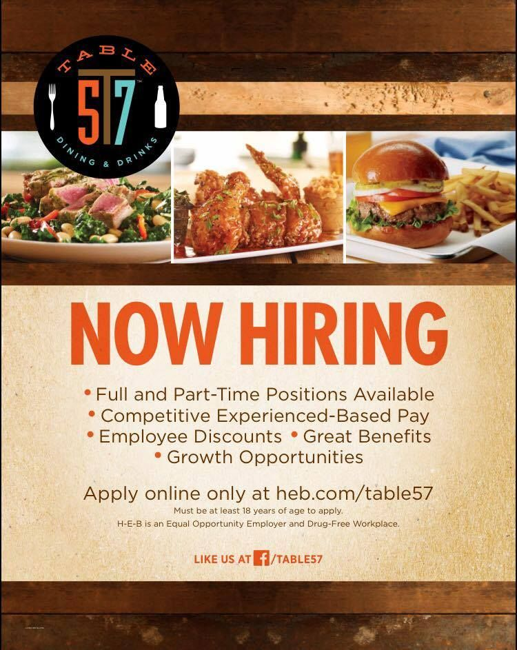 Table 57 Dining And Drinks Careers At H E B Food To Go