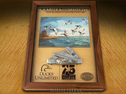 CASE-XX-Abalone-1-100-Stockman-Ducks-Unlimited-Commemorative-Pocket-Knife-Knives