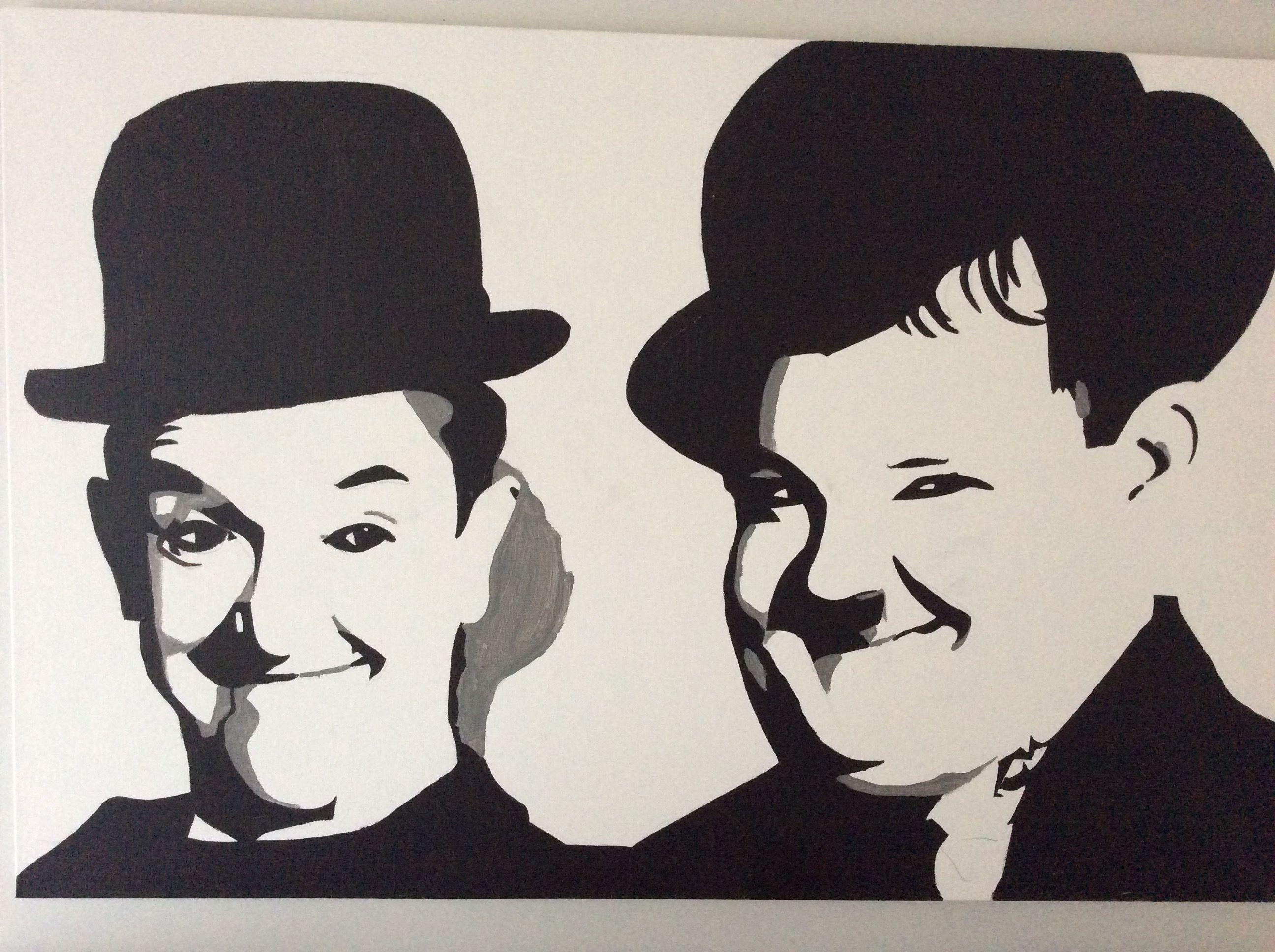 Laurel and Hardy for my husband. Acrylic | čo maľovať | Pinterest ...
