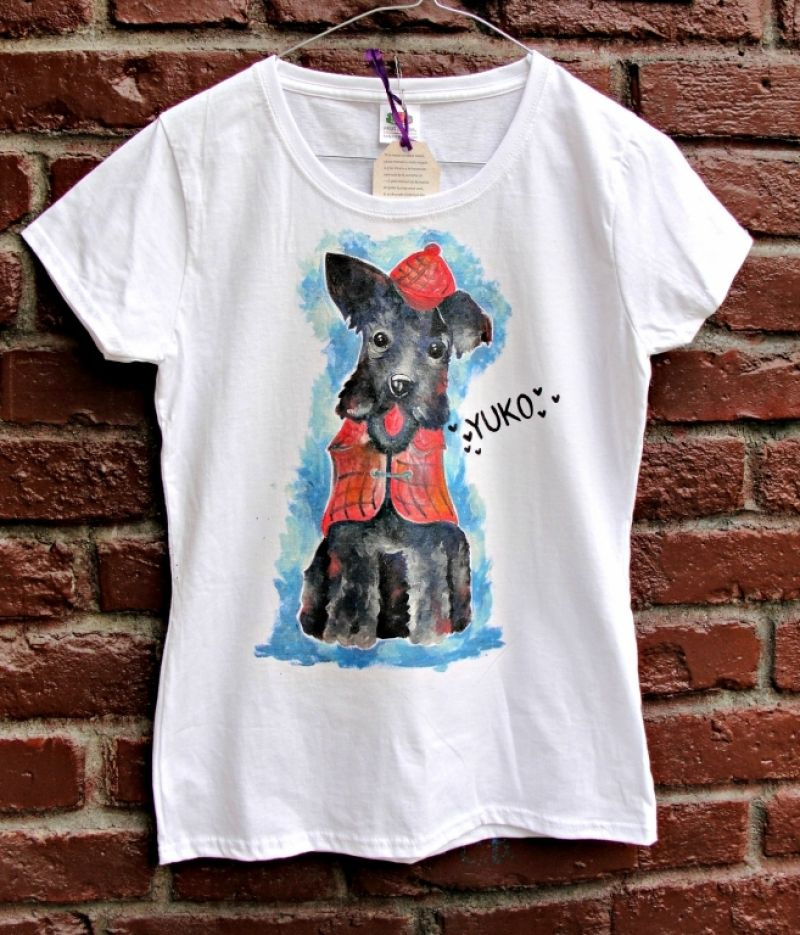 """Tricou pictat  """"Funny dog"""""""