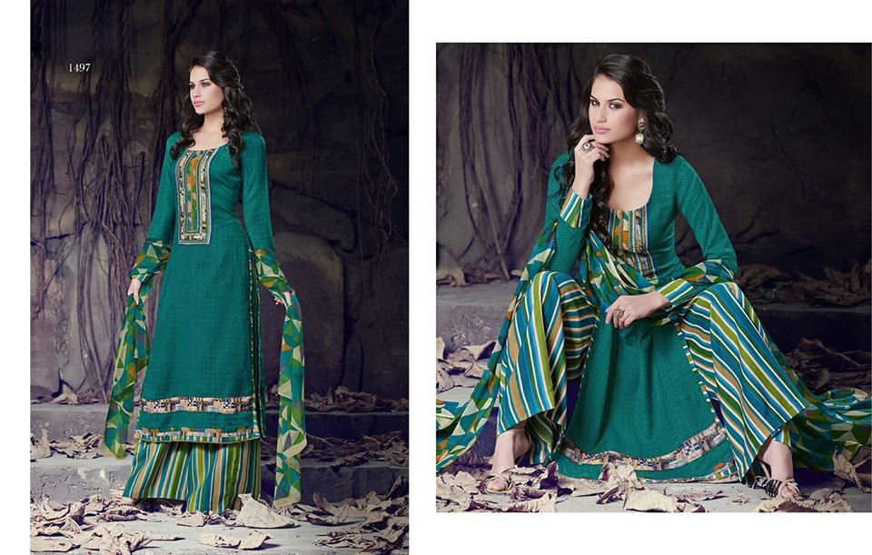Code - JV-1497 | Price - 3500 Taka  Product Description:- Top: Cotton Print Bottom: Cotton Dupatta: Chiffon  For order please Call / SMS : 01671 517 885
