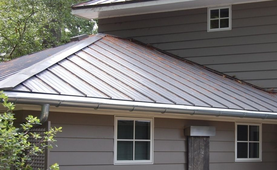 Gutterdome Gd67 Installed On A Metal Roof With Half Round