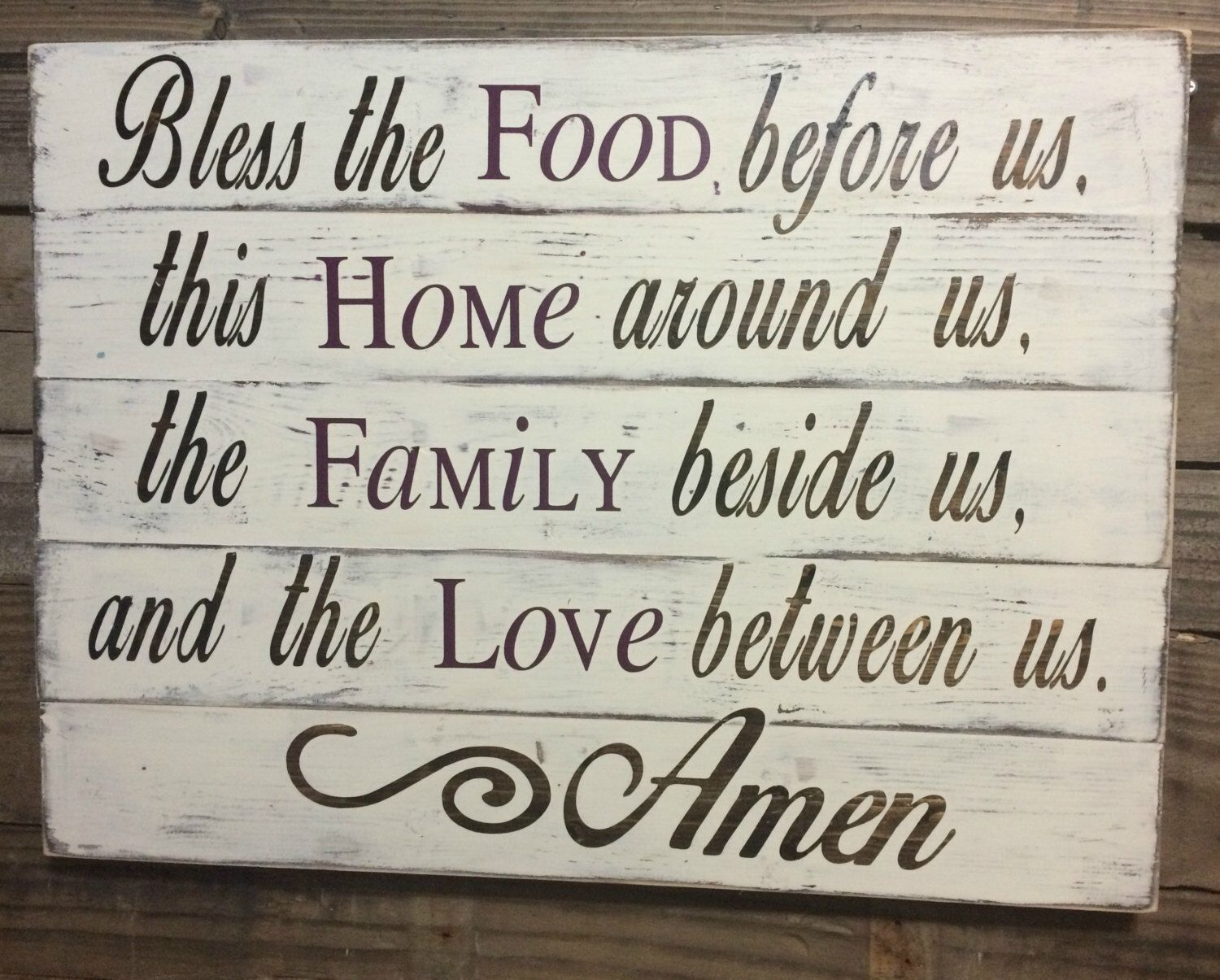 Shabby Chic Kitchen Signs : Shabby chic kitchen signs: wooden wall signs for kitchen rustic