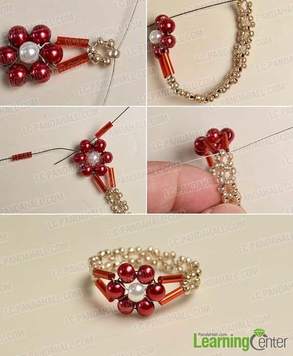 Complete the beaded flower ring | Bugle Beads | Pinterest | Perlen ...