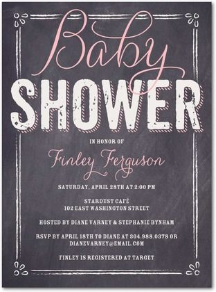 Baby Shower Invitations   Baby Board: Bloom By Tiny Prints