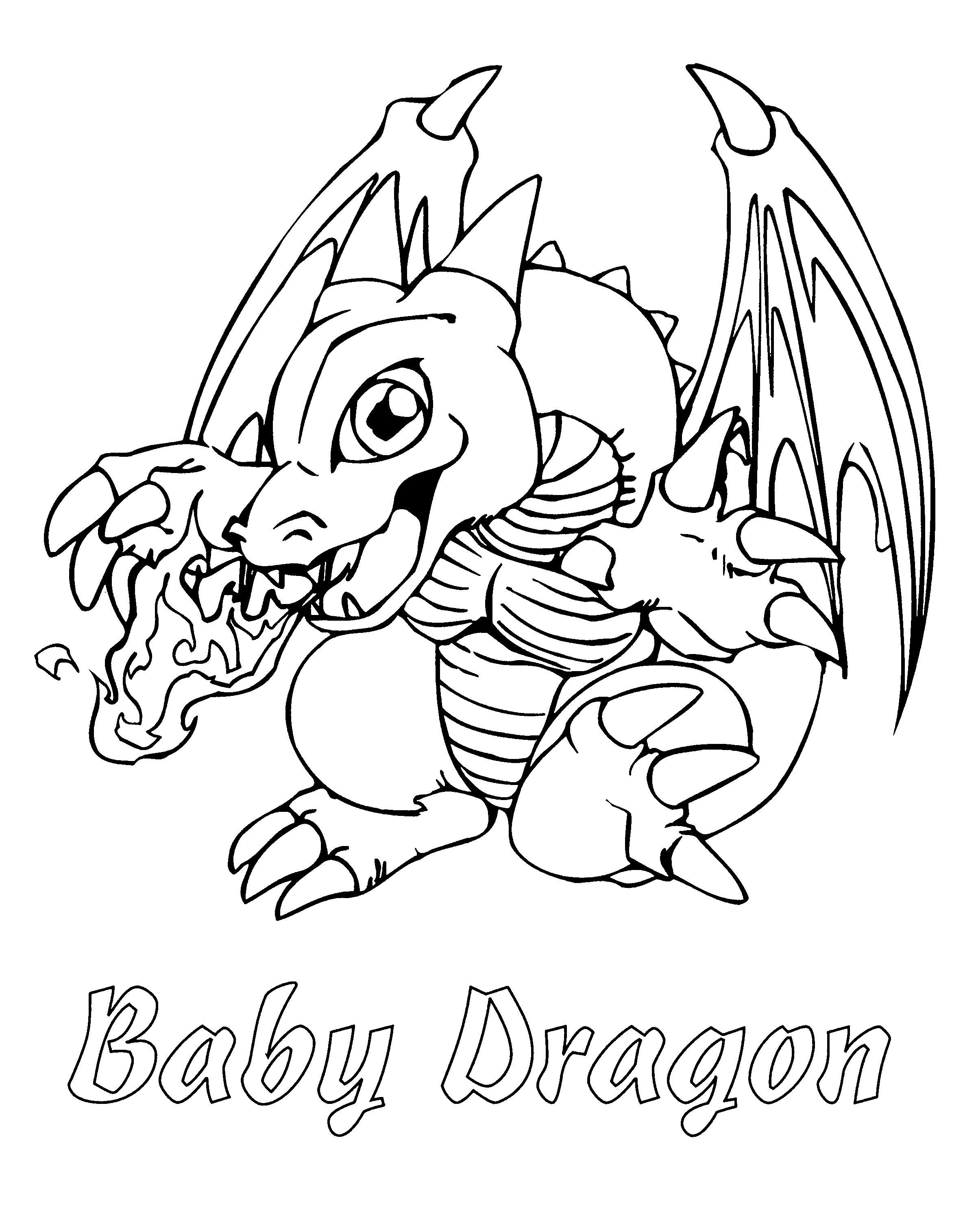 Baby Dragon Coloring Pages In 2020 Dragon Coloring Page Cute